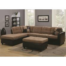 01 Mallory Reversible Sectional with Casual and Contemporary Style
