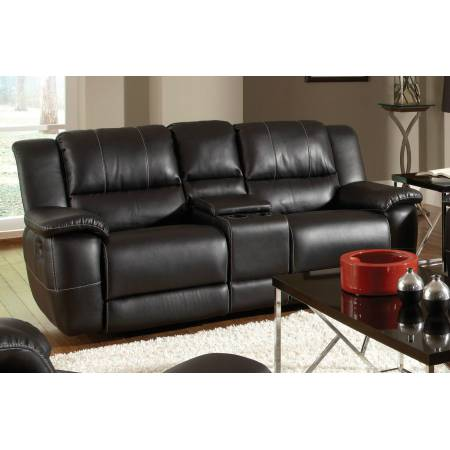 Lee Transitional Double Reclining Gliding Love Seat with Console
