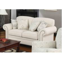 Norah Traditional Loveseat with Antique Inspired Detail