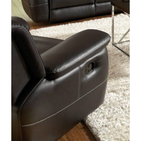 Lee Transitional Glider Recliner with Pillow Arms