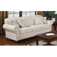 Norah Antique Inspired Sofa with Nail Head Trim